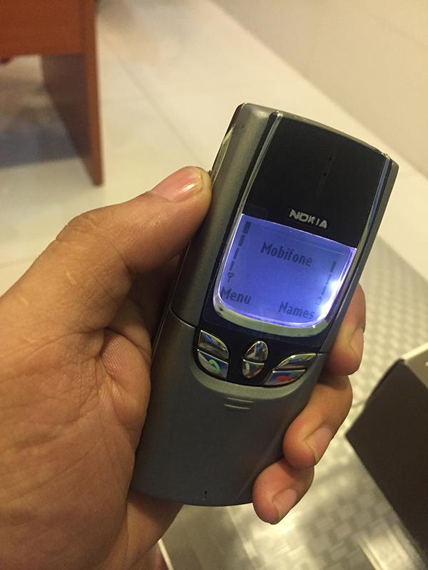 Quay phải màn hình Nokia 8850 để kiểm tra