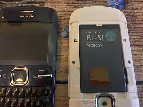 Pin Nokia C3 là pin lithium-ion BL-5J, nó có dung lượng 1320 mAh.
