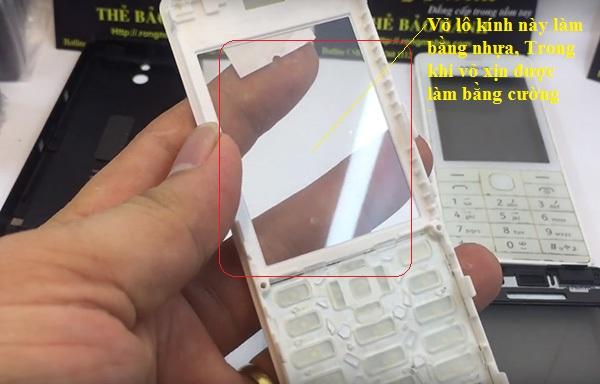 Vỏ nokia 515 bằng nhựa nhái của Trung Quốc